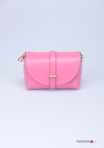 Bag in Genuine Leather  with shoulder strap with strap Fucsia