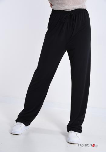 Trousers  with bow Black