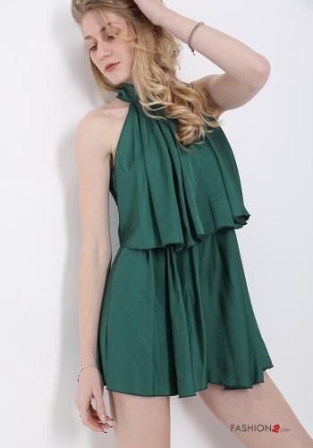 Jumpsuit  with bow satin