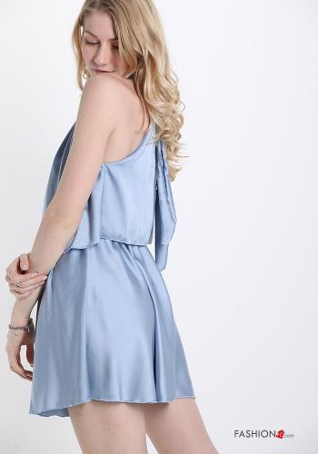 Jumpsuit  with bow satin Sky blue