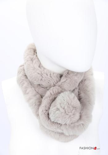 Scarf in Ecological Fur Beige