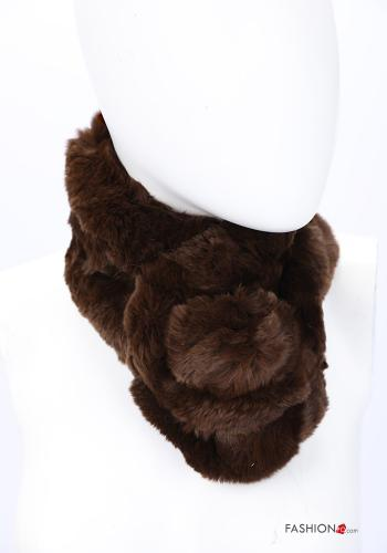 Scarf in Ecological Fur Brown