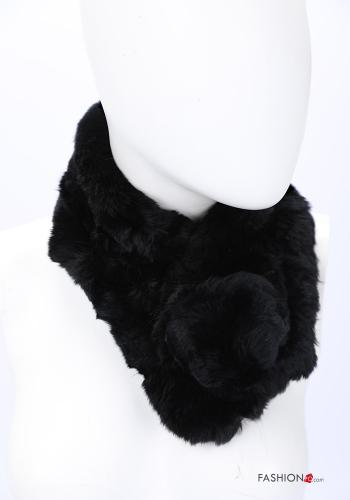 Scarf in Ecological Fur Black