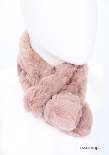 Scarf in Ecological Fur Pink