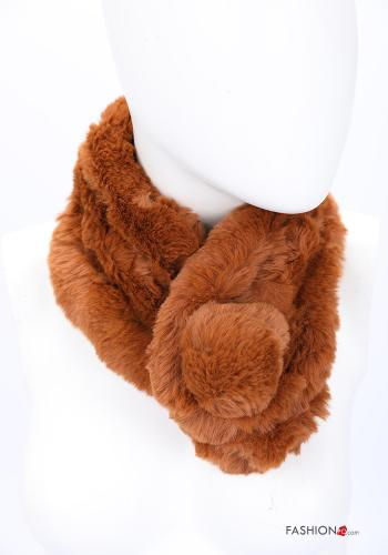 Scarf in Ecological Fur Light brown