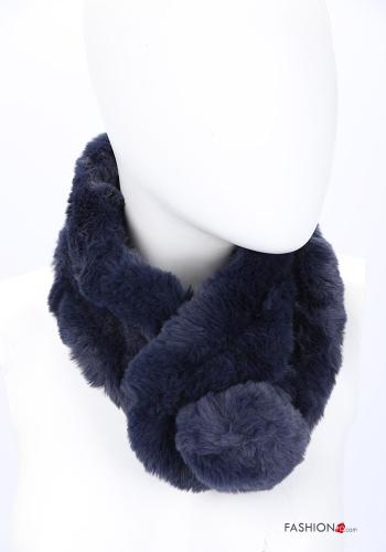 Scarf in Ecological Fur Blue