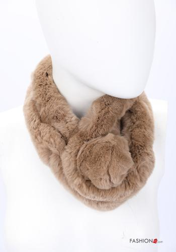 Scarf in Ecological Fur Camel colour