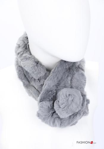 Scarf in Ecological Fur Grey