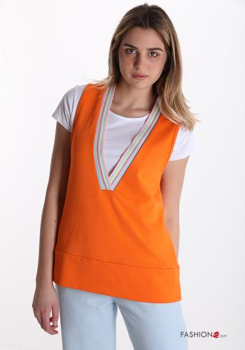 T-shirt aus Baumwolle Orange