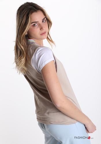 T-shirt in Cotone Beige