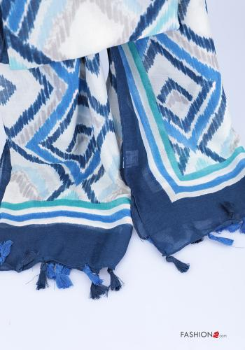 Scarf  with fringes Geometric Pattern