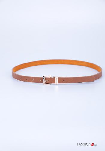 Belt in Genuine Leather  adjustable Brown