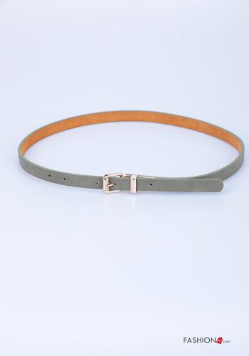 Belt in Genuine Leather  adjustable Green