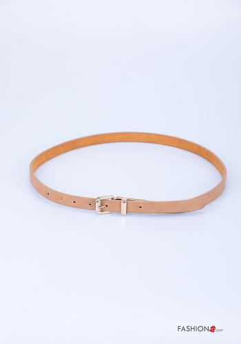 Belt in Genuine Leather  adjustable Beige