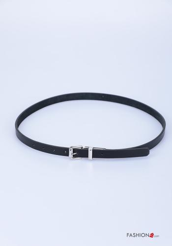Belt in Genuine Leather  adjustable Light black