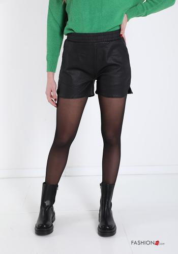 Shorts  faux leather with pockets
