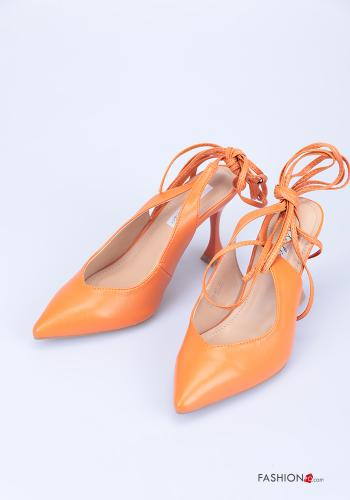 Heeled shoes  adjustable with strap