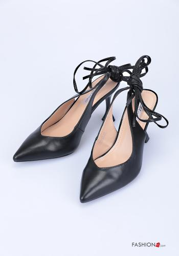Heeled shoes  adjustable with strap Black