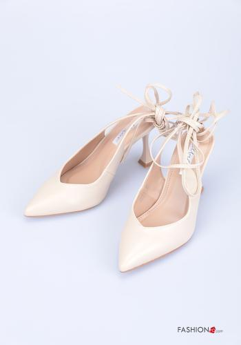 Heeled shoes  adjustable with strap Light dusty pink