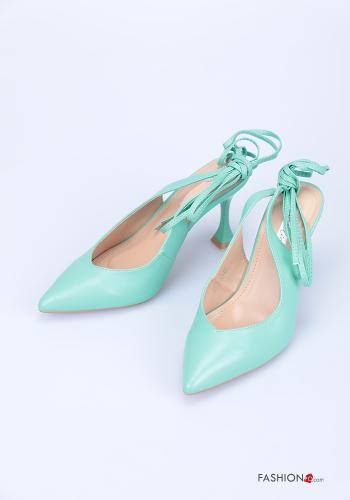 Heeled shoes  adjustable with strap Blue marine