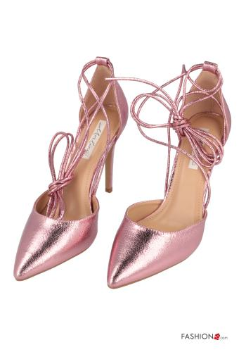 Heeled shoes  with strap Pink