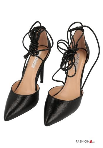 Heeled shoes  with strap Black