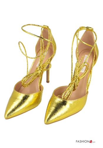 Heeled shoes  with strap Yellow