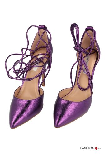 Heeled shoes  with strap Purple
