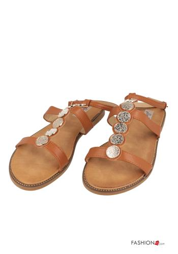Sandals  adjustable with strap Camel colour