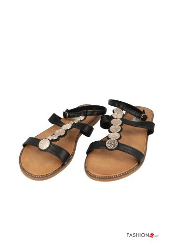 Sandals  adjustable with strap Black