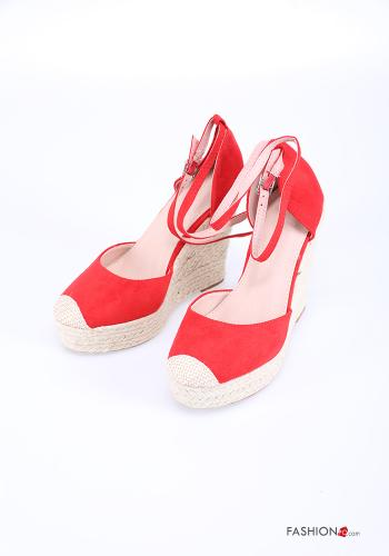 Heeled shoes  adjustable with strap wedge