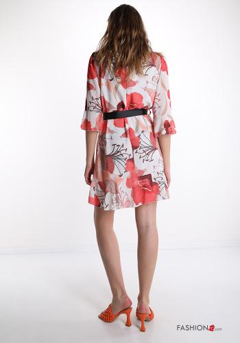 Dress  with ribbon Floral print