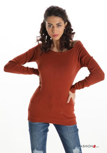 Casual Sweater Earthenware colour