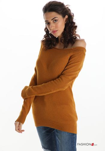 Casual Sweater Camel colour
