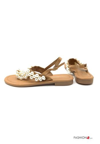Sandals  with pearls with strap adjustable