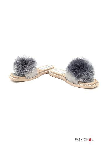 Casual Slippers Grey