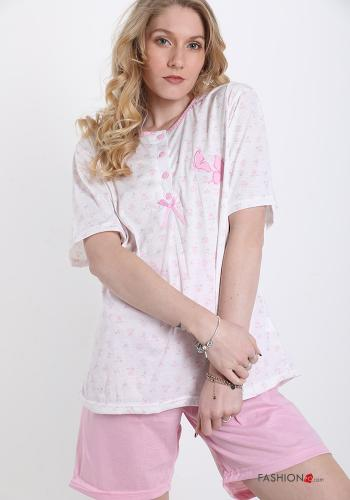 15-piece Set  Pajama shorts in Cotton Floral print